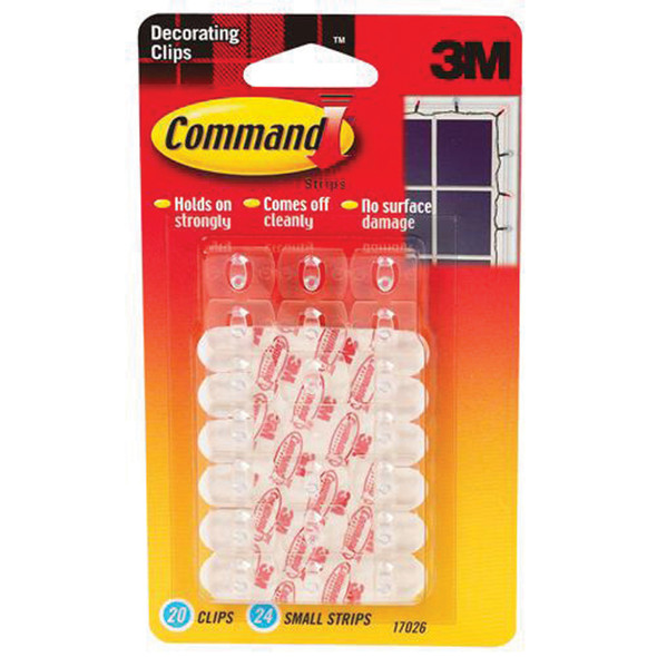 Command Adhesive Decorating Clips, Clear, Decorator - 1 Pkg