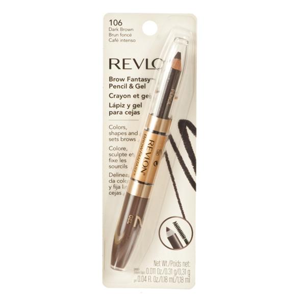 Revlon Brow Fantasy Eye Pencil And Gel, Dark Brown  - Each