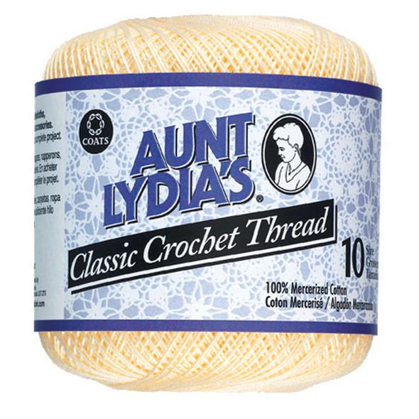 Aunt Lydia's Classic Crochet Thread, Cream, 350 Yds. - 3 Pkgs