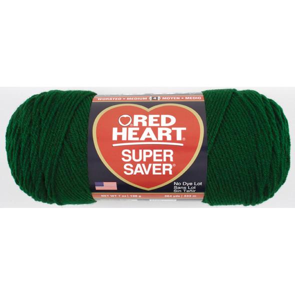E300 Super Saver Yarn, Hunter Green, 7 oz - 3 Packs