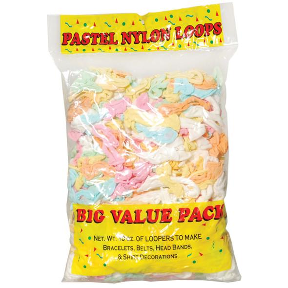 Nylon Loops, Pastel, 10 oz - 1 Pkg