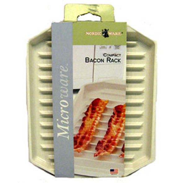 "Microwave Compact Bacon Rack, White, 8X10"" - 1 Pkg"