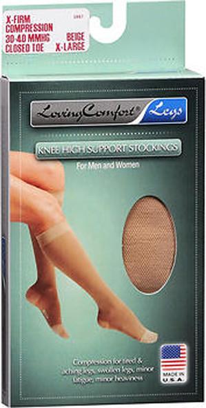 Loving Comfort Knee-High Compression Hose - Beige - Extra Large 1681071