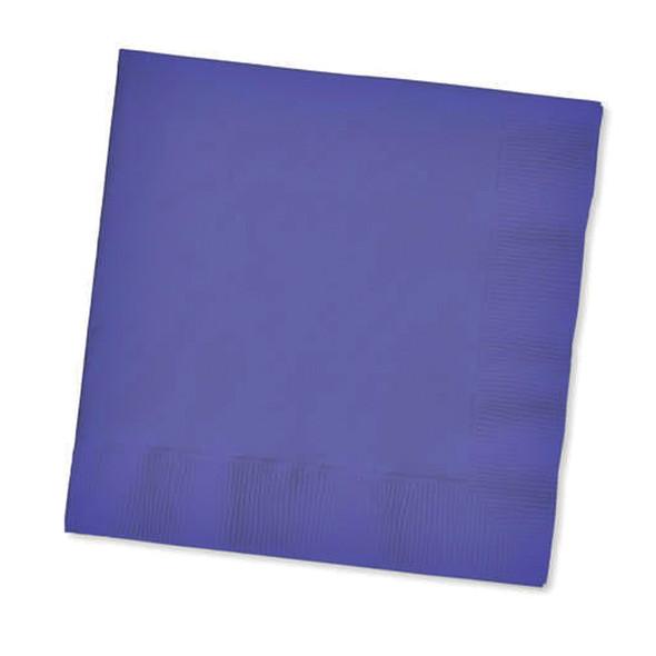 Solid Color Beverage Napkin, Purple, 50 Ct - 1 Pkg