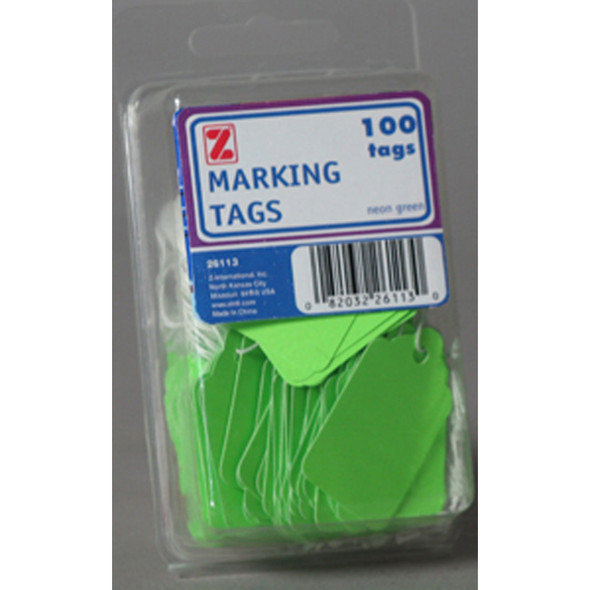 Marking Tags- String, Fluorescent Green - 1 Pkg