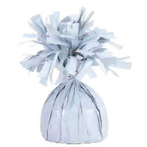 Foil Balloon Weight, White, 6.2 oz - 1 Pkg