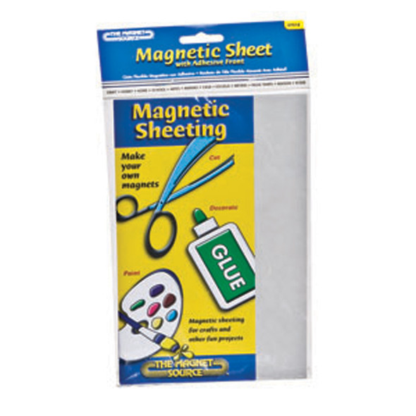 "Magnetic Sheeting, Black, 5"" X 8"" - 1 Pkg"
