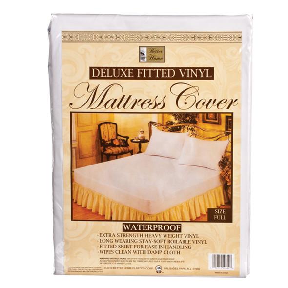 Vinyl Mattress Covers-Fitted Full, Vinyl, Full - 1 Pkg