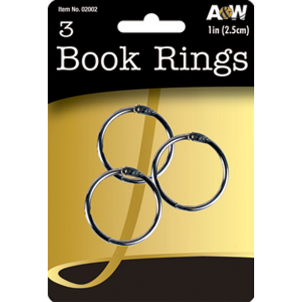 Book Rings, 3Ct. 1 Pkg