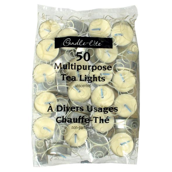Tealight Candles, White, 50 Ct - 1 Pkg