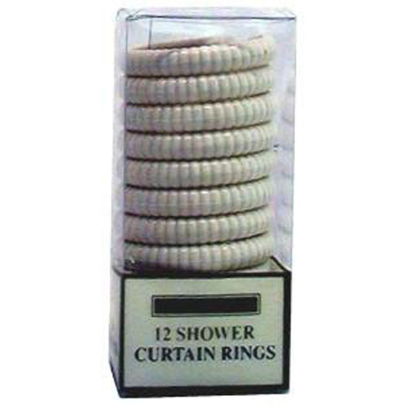 Shower Rings White, White, 12 Ct - 1 Set