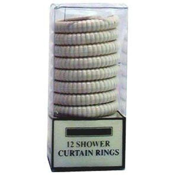 Shower Rings White, White, 12 Ct - 1 Set