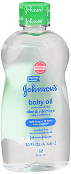 Johnson & Johnson Baby Oil Aloe Plus Vitamin E - 14 oz