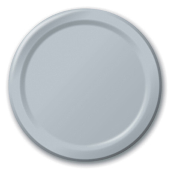 """Solid Color Luncheon Plate, Shimmering Silver, 7"""" - 1 Pkg"""