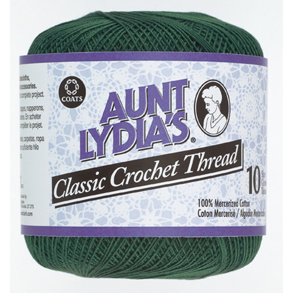 Aunt Lydia's Classic Crochet Thread, Forest, 350 Yds. - 3 Pkgs