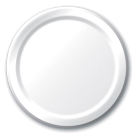 """Solid Color Luncheon Plate, White, 7"""" - 1 Pkg"""