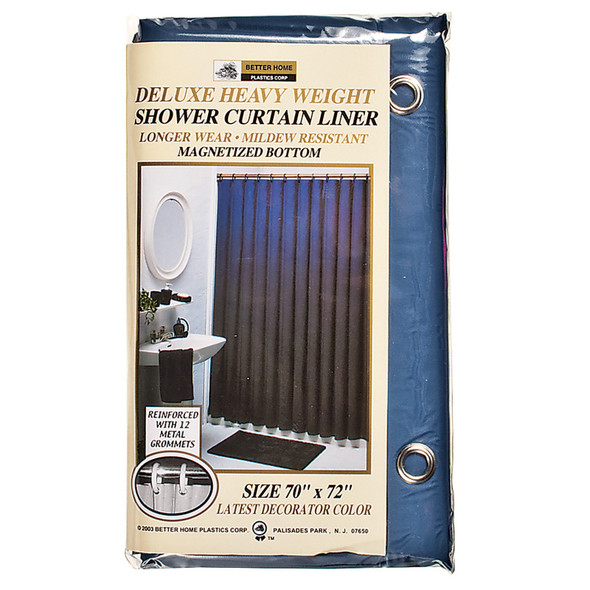 "Deluxe Vinyl Shower Curtain Navy, Navy, 70""X72"" - 1 Pkg"