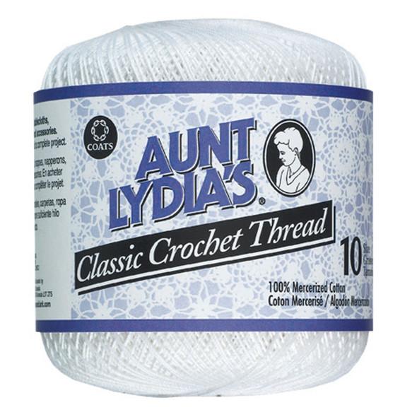 Aunt Lydia's Classic Crochet Thread, White, 400 Yds. - 3 Pkgs