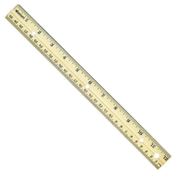 """Wood Ruler, 12"""" - 1 Pkg"""