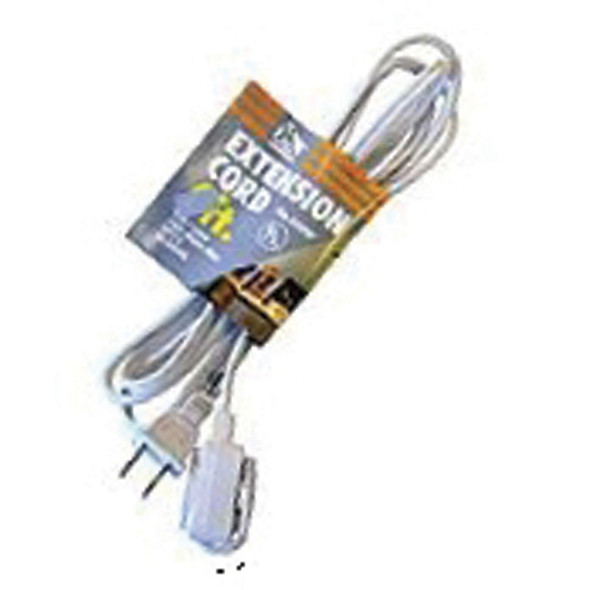 Extension Cord 15', White - 1 Pkg