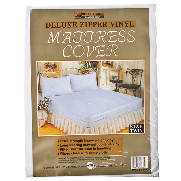 Vinyl Mattress Cover - Zippered Twin, Vinyl, Twin - 1 Pkg