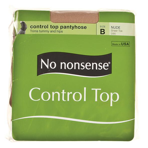 Control Top Panty Hose, Nude, B - 1 Pkg