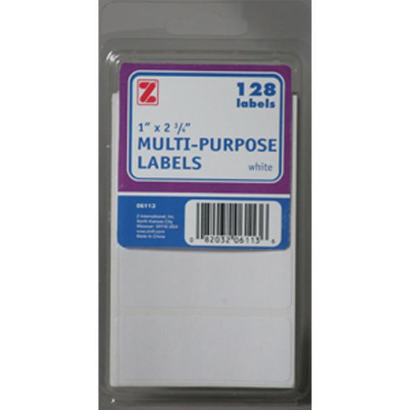 "White Labels, 1X2.75"" - 1 Pkg"