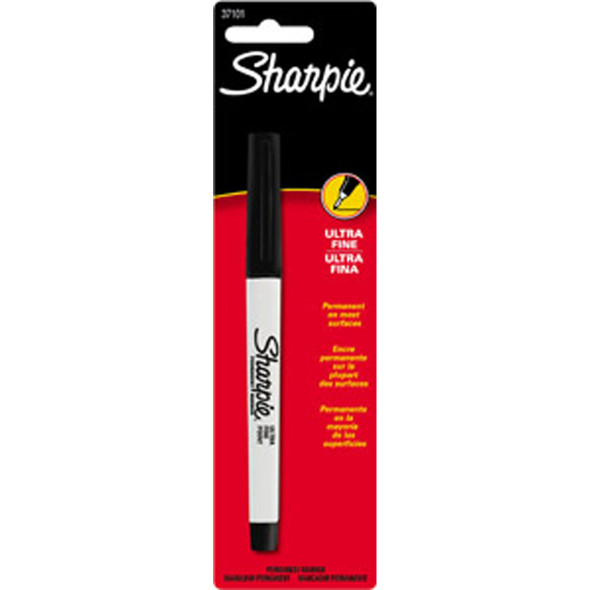 Sharpie Ultra Fine Permanent Marker, Black, .5Mm - 1 Pkg