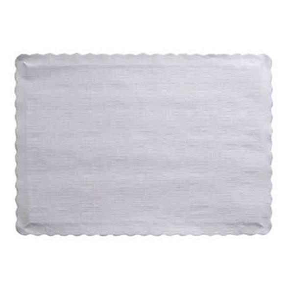 """Solid Color Placemat, White, 9.5""""X14"""" - 50 ct pkg"""
