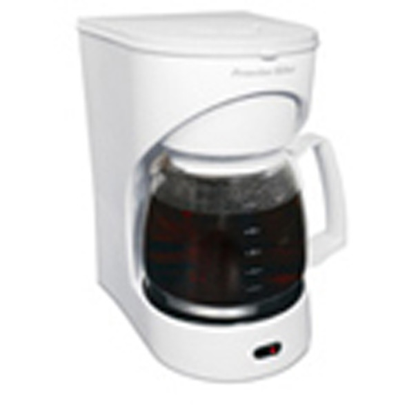 Drip Coffeemaker Small Appliance, White, 12 Cup - 1 Pkg