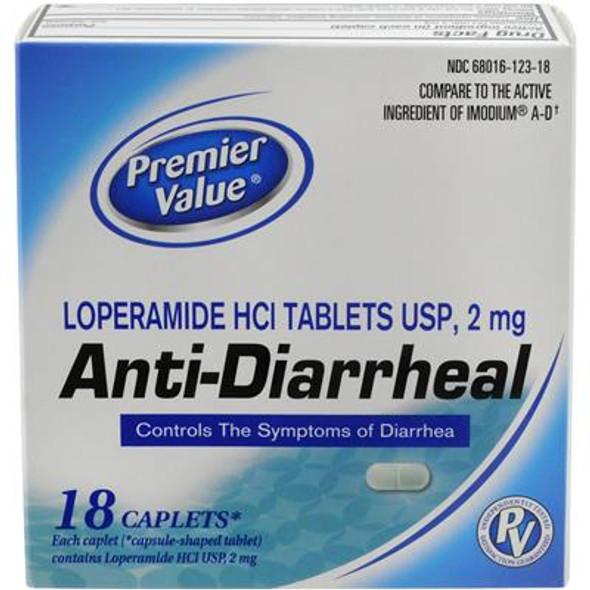 Premier Value Anti-Diarrheal - 18ct