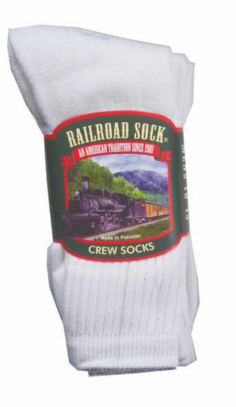 Men's Crew Socks, White - 1 Pkg