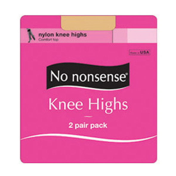 Knee High Sheer Toe Hose, Tan, Queen - 1 Pkg