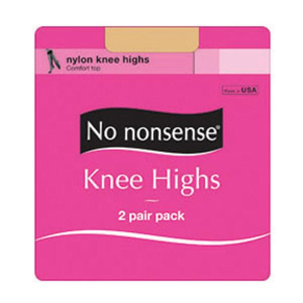 Knee High Sheer Toe Hose, Tan, Queen - 1 Pkg