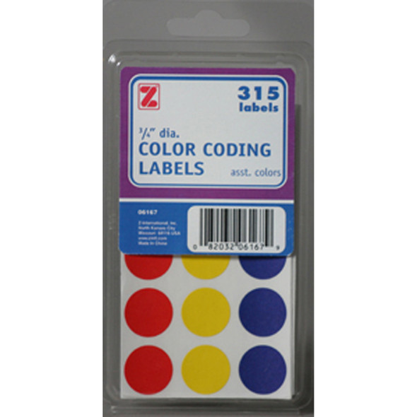 Removable Color-Code Labels, Assorted - 1 Pkg