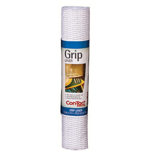 "Grip-It Shelf Liner, Bright White, 12""X5' - 1 Roll"