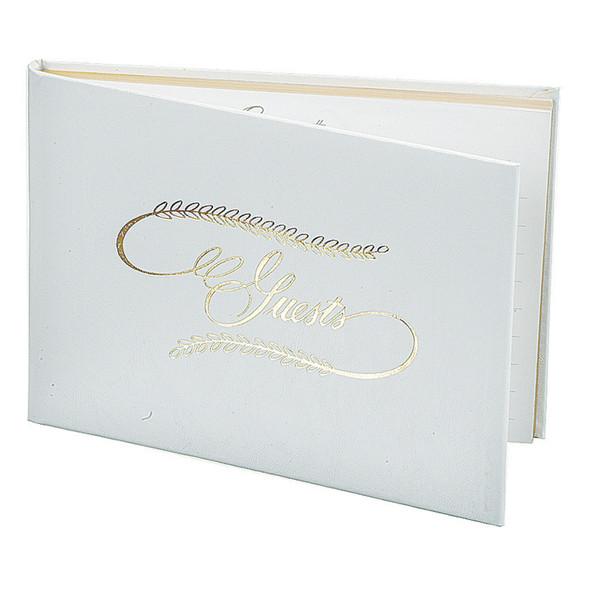 "Guest Book, White, 6X8.5"" - 1 Pkg"