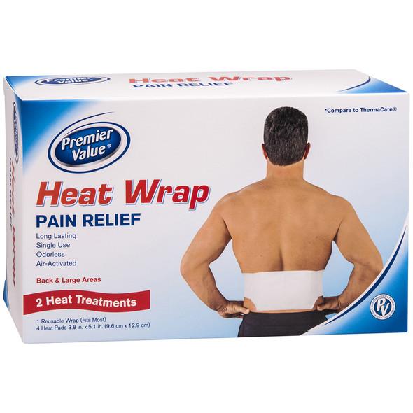 Premier Value Heatwrap Back/Hip - 2ct