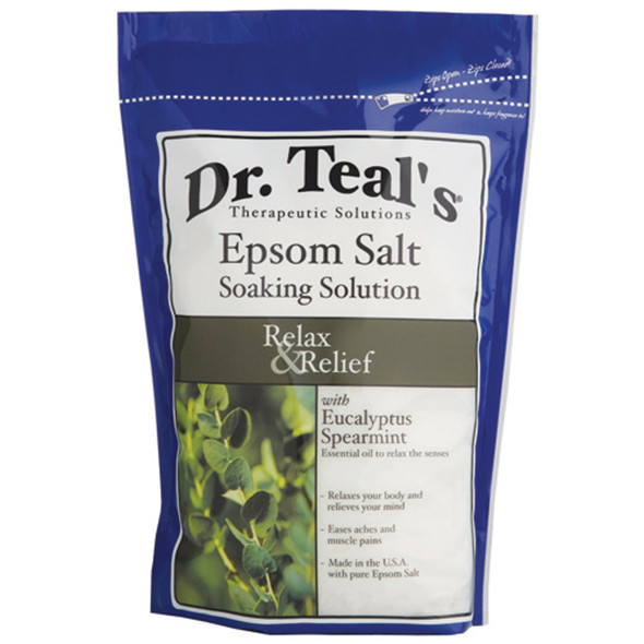 Dr. Teals Eucalyptus Epsom Salt, Eucalyptus, 3# - 1 Pkg