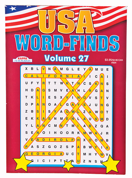 U.S.A. Word Find Books, 96 page