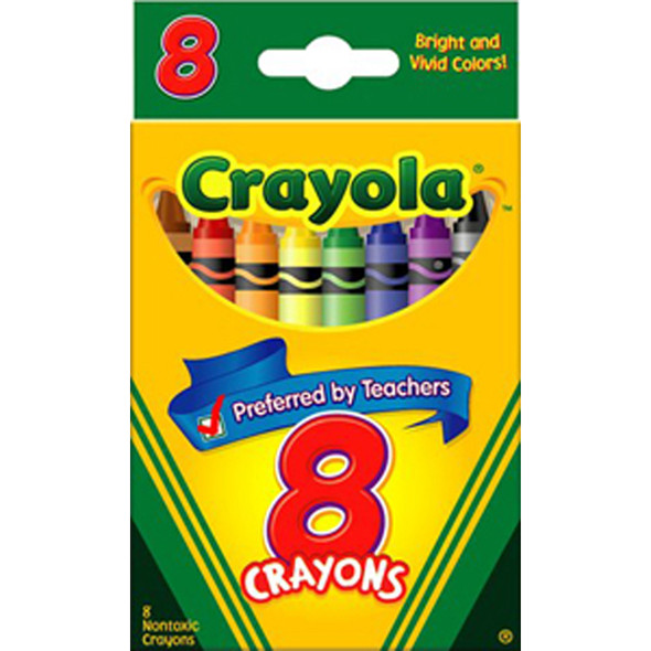 Crayola Crayons, Assorted, 8Ct. - 1 Pkg