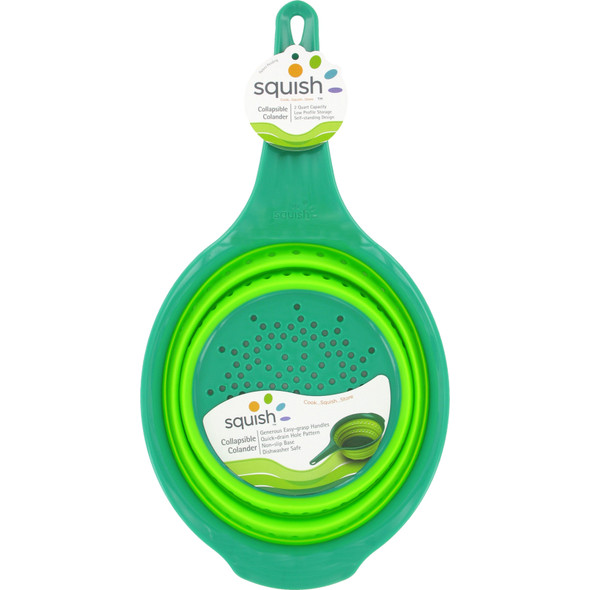 Squish  Colander, Green, 2 Qt - 1 Pkg
