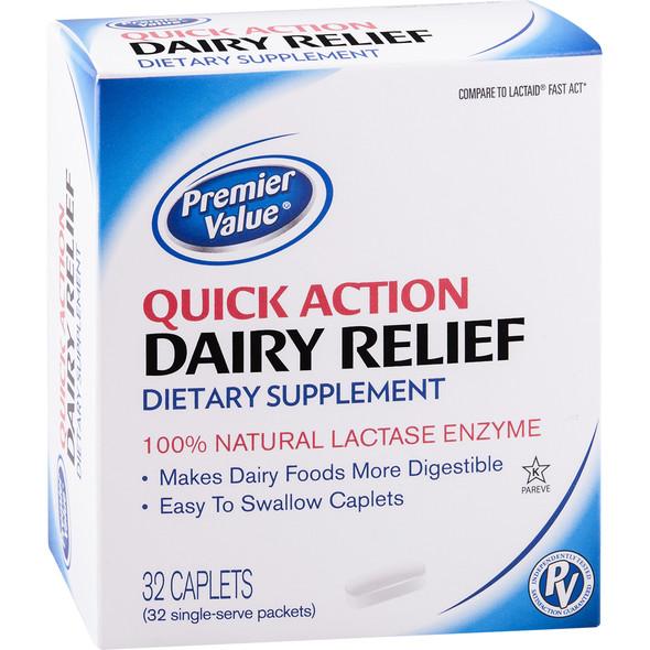 Premier Value Quick Action Dairy Relief - 32ct