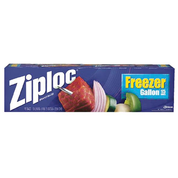 Ziploc Freezer Bags, Blue, 15 Ct - 1 Pkg