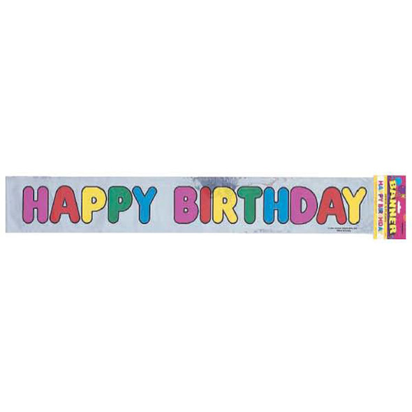 Happy Birthday Banner Decoration Metallic - 1 Pkg