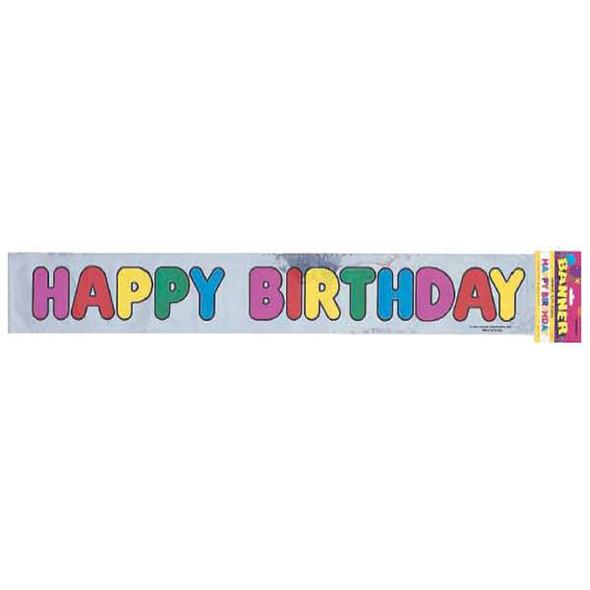 Happy Birthday Banner Decoration Metallic - 1 Pkg