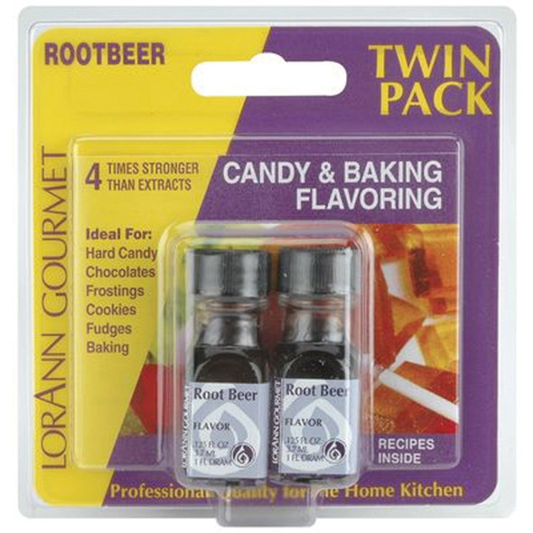 Twin Pack Flavoring Oils, Candy/Baking, Rootbeer, 2X.125 - 1 Pkg