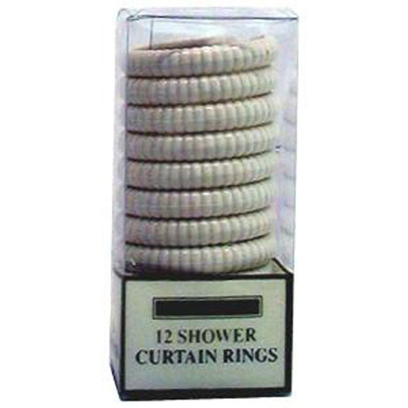 Shower Rings Beige, Beige, 12 Ct - 1 Set