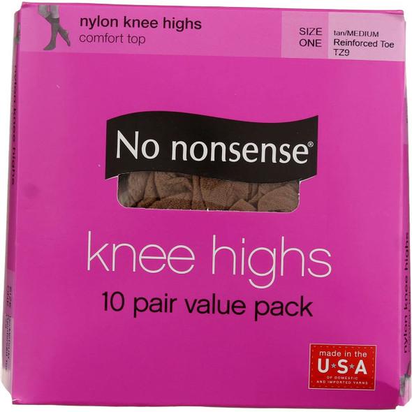 Knee High Sheer Toe Hose, Tan, Onesize - 1 Pkg