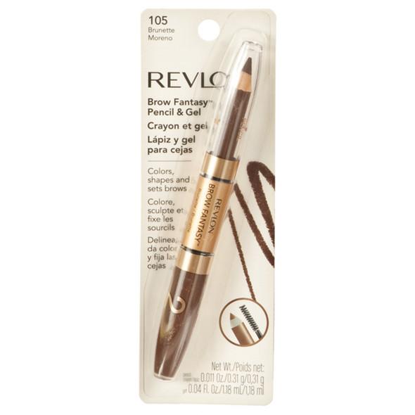 Revlon Brow Fantasy Eye Pencil And Gel, Brunette  - Each